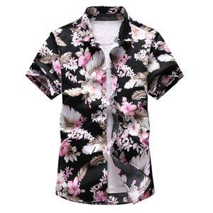 7XL Oversize Floral Mens Designer Neck Cardigan Polos Lapel Slim style vacances d'été à manches courtes hommes T-shirts