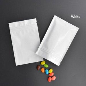 100 Pcs Colorful Aluminum Foil Bag Self Seal Zipper Ziplock Packing Food Bag, Pink Blue Green Retail Resealable Packaging Pouch