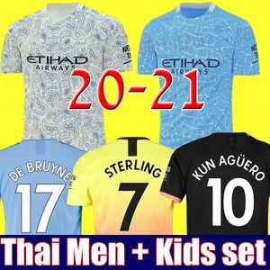 Top qualità Thailandia 19 20 21 maglia da calcio MANCHESTER CITY G.JESUS DE BRUYNE KUN AGUERO maglie 2019 2020 2021 liverpool  SANE calcio kit maglia da calcio per adulti e bambini