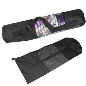 Yoga Pilates Portable Mat Nylon Sac de transport Centre Mesh réglable Sangle Totes