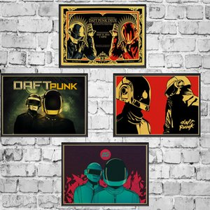 The Daft Punk rock music band Poster Wall Stickers Vintage Poster Prints High Quality For Bar And Home Decor