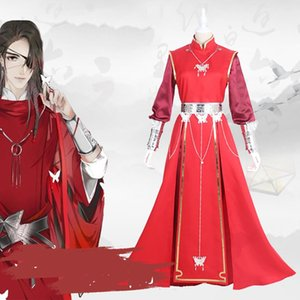 Anime Tian guan ci fu Cosplay Xile Lian Hua cheng Costume Cosplay Wedding Red Costmes Halloween costumes for men women adult