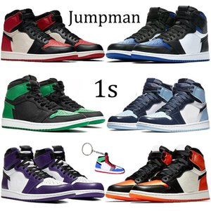 Nike AIR JORDON RETRO Hommes 1 OG Chaussures De Basketball Interdit Mi Race Multi Couleur Gym Rouge Chicago Noir Toe Athlétisme Baskets Top 1s Formateurs Hommes Designer Chaussures