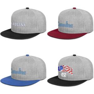 Erkekler ve kadınlar Düz kenar Trucker Ayarlanabilir Cap Golf Blank Orijinal Şapkalar pembe İçin Kuzey Carolina Tar Heels basketbol ABD bayrağı logosu