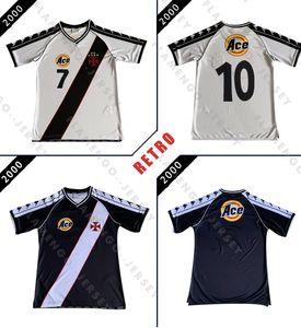 Dagama Донизете # 7 VASCO MATCH футбол Джерси ИЗНОШЕННЫХ ретро 2000 классический футбол рубашка винтажная Камиза де Futebol Ромарио дома