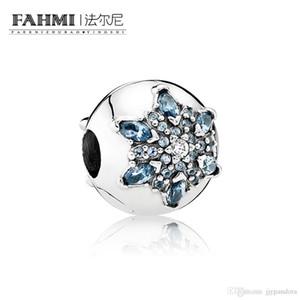 FAHMI 100% 925 Sterling Silver 1:1 Original 791997NMB Authentic Temperament Fashion Glamour Retro Safety Buckle Wedding Women Jewelry