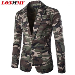 LONMMY Camouflage suit men Coon style Male blazer masculino slim fit mens clothing mens blazer jacket Slim fit Casual1