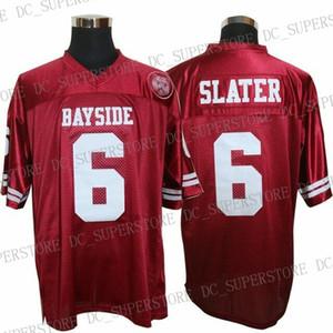Günstige benutzerdefinierte gespeichert von der Bell AC Slater # 6 Bayside Tigers Fußball Trikots Nähen Persönlichkeit Anpassung einen beliebigen Namen Nummer XS-5XL