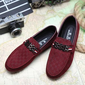 Red Bottoms Loafers Black hococal Men Shoes Slip On Men's Leisure Flat Shoes Fashion Male Breathable Moccasin Loafers Driving Shoes 3A