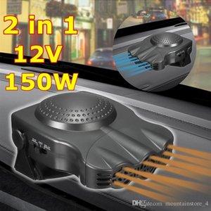 12V 150W Protable Auto Chauffage de la voiture Chauffage Ventilateur de refroidissement Pare-brise Fenêtre Désembuage DEFROSTER Conduite Defroster Demister (Balck) (Détail)