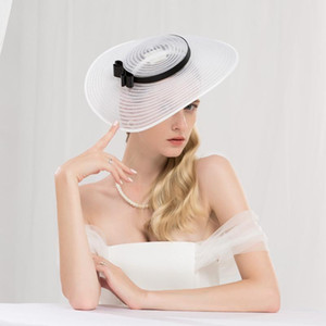 Женский Fedoras Hat Ранний Евро-Американский Jockey Club Шляпы British Beauty Ladies Банкет Элегантный Cap волос Обруч Headdress H224