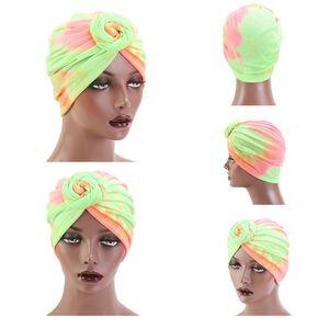 Turban Hat Hair Caps with Big Bow Soft Cute Knot Nursery Beanie Knotted Headban Hair Night Sleep Caps Hat Hait Styling Tools