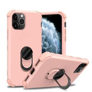 아이폰 11 프로 최대 5.8 6.1 6.5 충격 방지 커버에 대한 링 자동차 마운트 홀더 자석 하이브리드 보호 케이스