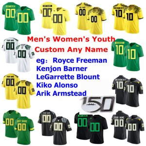 NCAA Oregon Ducks College Football Jerseys Enfants Jeunes Jeunes Royce Freeman Jersey Kenjon Barner Legarrette Blount Kiko Alonso Custom Coinded