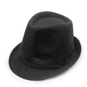 Sun Jazz Gangster Cap Panamá Hombres Mujeres unisex Trilby Fedora playa del verano del sombrero de Sun del bloque de Protección UV sombreros calientes de la venta