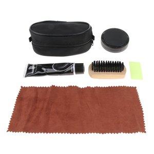 4 Stück Unisex Shoe Care Kit Professionelle Reise Schuhe Boots-Glanz-Bürsten-Ausrüstung
