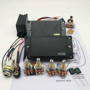 EMG Schwarz 81/85 Aktive Pickup E-Gitarre Humbucker Tonabnehmer mit 25K Potentiometer Montagezubehör + Einbauzeichnungen