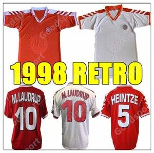 Retro 1998 Dinamarca Copa Mundial Jersey de fútbol 98 00 Danish M Laudrup Helvege Hearinteze Vintage Camisa de fútbol clásico Calcio Schmeichell