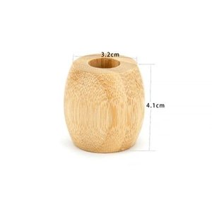 Portaspazzolino bambù naturale Portaspazzolino Bagno Logo Bagno biodegradabile Legno Set Eco Friendly personalizzato antibatterico EEA1338-4