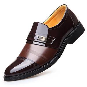 Height Increasing 6CM Elevator Office Shoes Men Oxfords Elegant Men Formal Dress Shoes Patent Leather loafers 2018 Bridegroom Shoes Flats