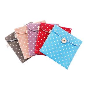 Frauen-Mädchen-Baumwollleinen Sanitary Napkin-Beutel-bewegliche Sanitary Pad-Speicher-Beutel-Kreditkarte-Beutel WB1857