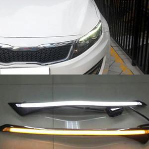1 paio faro dell'automobile LED per sopracciglia per KIA K5 Optima 2011 2012 2013 2014 luce corrente di giorno DRL con Giallo Indicatore di direzione