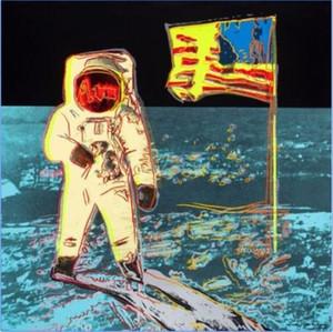 Andy Warhol Moonwalk Handpainted HD Baskı Soyut Portre Sanat yağlıboya, Duvar Sanat Ev Dekorasyonu Üzerinde Yüksek Kalite Canva g309