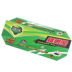 5шт Green Leaf Таракан House Killing Приманка Strong Sticky Catcher Ловушки Environmental насекомых Отпугиватель вредителей Roach ECO-Friendly