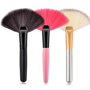 Pro Big Fan Highlighter Brush فرشاة بودرة ناعمة ناعمة محمولة أدوات ماكياج فرشاة أدوات التجميل Pincel Para Maquiagem