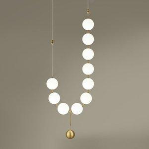 البساطة الفاخرة لؤلؤة قلادة اللوبي الثريا الزجاج الفن lightsliving غرفة نموذج قاعة قاعة شخصية مصابيح فقاعة