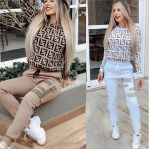 Frauen Design 2 teiliges Set Jogger Anzug Stickerei Hoodie Leggings Outfits Sweatshirt Strumpfhosen Sport Bodycon Pant