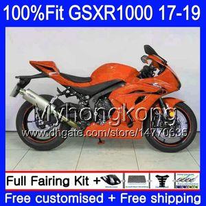 Инъекция для Suzuki GSX-R1000 L7 L8 GSXR 1000 2017 2018 2019 331HM.AA GSX R1000 K17 GSXR-1000 GSXR1000 17 18 19 Gloss Orange Ctraging Kit