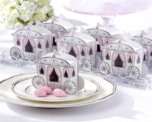 10pcs Crown fairy tale pumpkin carriage wedding candy box Event & Supplies Festive & Party Supplies marriage charm shower favor candy boxes