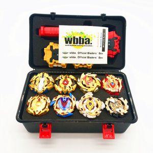 قاذفات أسلوب الذهب Beyblade Burst لعب مع بداية وساحة Bayblade الانصهار المعدني الله الغزل الأعلى بليد بليد شفرات اللعب MX190926