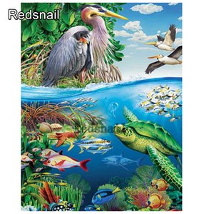 5d Full Diy square or round Diamond Painting sea scenery New picture Embroidery Cross Stitch Marine life kids painting art TT270