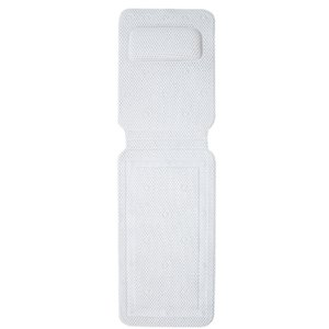 Full Body Bath Pillow and Bath Mat Soft Body Spa Bath Mattress with Non-Slip Suction Cup and Headrest for Neck and Back Support