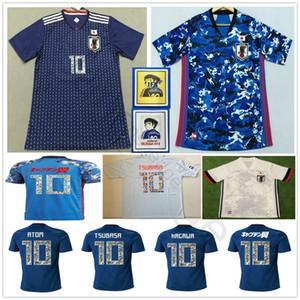 2019 2020 Japan Soccer Jerseys Adult Kids Man Women 2018 World Cup Cartoon Number Captain TSUBASA ATOM KAGAWA HYUGA Custom Football Shirts