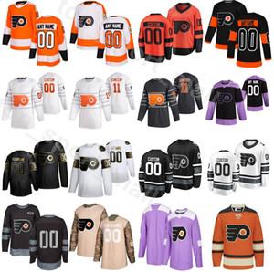 Nom personnalisés Flyers de Philadelphie 2020 Hockey sur glace 6 Travis Sanheim Jersey 5 Philippe Myers 49 Joel Farabee 12 Michael Raffl 50e anniversaire
