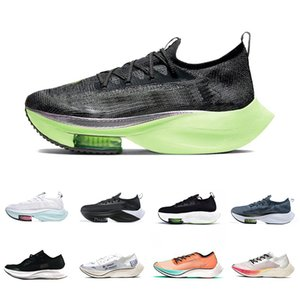 Nike Air Zoom Alphafly NEXT% Lime Blast ZoomX VaporFly Mens Running shoes Ekiden Valerian Blue Ribbon Sail Outdoor Men Women Sports Outdoor designer sneakers des chaussures Zapatos