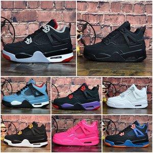 Nike Air Jordan 4 Дети 4 Баскетбол обувь оптом New 1 пространство замятия J4 J6 6S Кроссовки дети Спорт Бег ребенок девочка мальчик тренеры J4 обувь 28-35