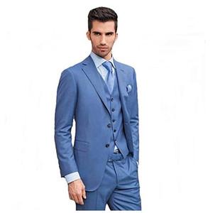 Fashionable Two Buttons Groomsmen Notch Lapel Groom Tuxedos Men Suits Wedding Prom Dinner Best Man Blazer(Jacket+Pants+Tie+Vest) 780
