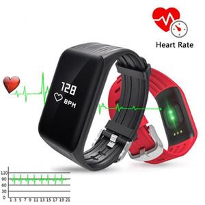 K1 أساور الذكية الذكية الأساور للياقة البدنية المقتفي رصد معدل ضربات القلب ضغط الدم ماء الساعات DHL مجانا