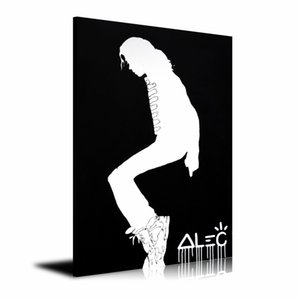 Alec Monopoly BLACK MJ MOONWALK,HD Canvas Printing New Home Decoration Art Painting (Unframed Framed)