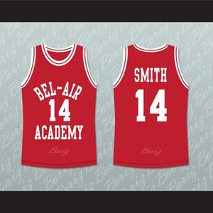 Der frische Prinz von Bel-Air Will Smith 14 Air Fresh Red Basketball Jersey Dream-2 Jeder Name beliebige Nummer
