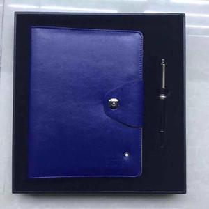 Nouvelle main en cuir noir Notepads enveloppe Agenda luxe Bureau Fournitures scolaires Cahiers Journal Corporels avec un stylo et une boîte