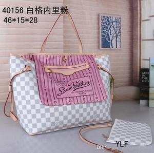 2pcs / set yüksek qulity klasik ers çanta bayanlar kompozit taşımak PU deri debriyaj omuz çantaları cüzdan ile kadın cüzdanını womens