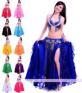 Nouvelle Profession Performance Set Belly Dance Costume Outfit 2 Photos BraBelt 34B / C 36B / C 38B / C 40B / C 11 couleurs