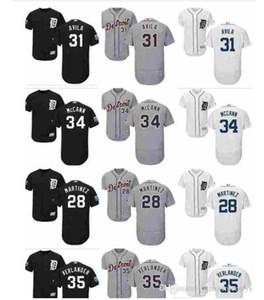 2020 Özel Erkek Bayan Çocuk gömlek Detroit Tigers Jersey 31 Alex Avila 28 J. D.Martinez 34 James McCann 35 Justin Verlander Beyzbol Jersey