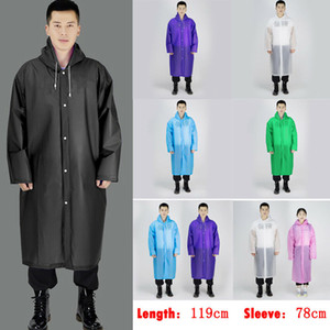 Мужчины Женщины Водонепроницаемая куртка EVA Кнопка Плащ с капюшоном Плащ от дождя Пончо Дождевики