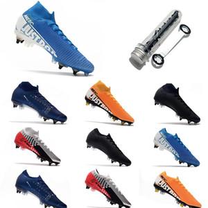 Nike Mercurial 13 Elite SG-PRO AC Big Bambini Gioventù Junior Uomini Scarpe da calcio Anti Clog di calcio dei morsetti dei pattini Plyknit 360 impermeabile